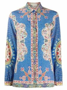 Etro geometric print shirt - Blue