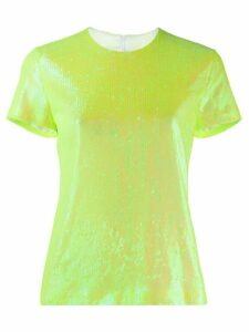 Mm6 Maison Margiela iridescent sequined top - Yellow