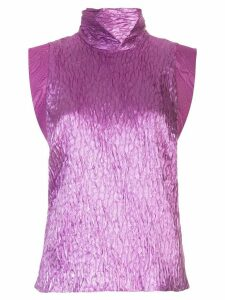 Rachel Comey funnel neck crease effect knit top - PURPLE