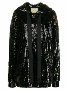 Marques'Almeida sequin embroidered hoodie - Black