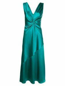 Pinko bias cut plunge maxi dress - Green