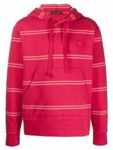 Acne Studios Striped hoodie - Red