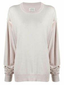 Maison Margiela cut-out sweatshirt - NEUTRALS