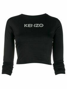 Kenzo logo-print cropped top - Black