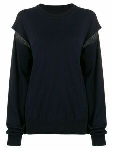 Maison Margiela slit sleeve jumper - Blue