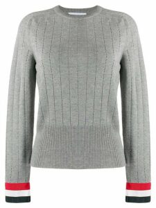 Thom Browne 3-bar stripe detail jumper - Grey