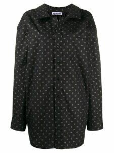 Balenciaga logo print oversized shirt - Black