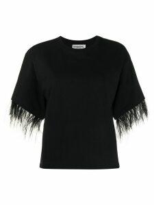 Essentiel Antwerp feather trim T-shirt - Black