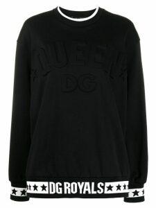 Dolce & Gabbana logo queen sweatshirt - Black