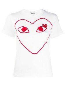 Comme Des Garçons Play short sleeve heart logo T-shirt - White