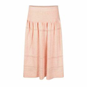 STUDIO MYR - Calf-Length Bohemian Chic Knitted Skirt Sweety - Pink.