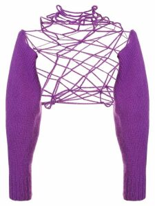 Ann Demeulemeester Wally loose knit jumper - PURPLE