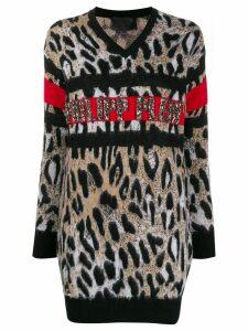 Philipp Plein leopard print jumper - NEUTRALS