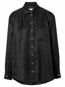 Burberry logo jacquard shirt - Black