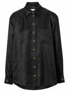 Burberry logo jacquard shirt - Black