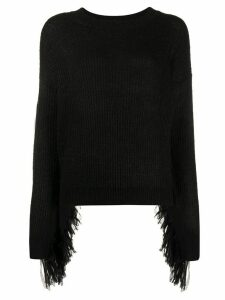 Essentiel Antwerp ribbed fringe jumper - Black