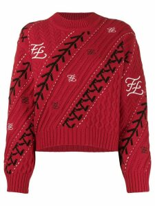 Fendi Karligraphy motif jumper - Red