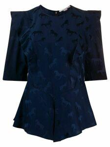 Stella McCartney horse jacquard blouse - Blue