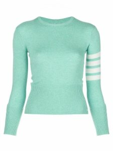 Thom Browne cashmere 4-Bar stripe jumper - Green