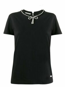 Miu Miu bow detail T-shirt - Black