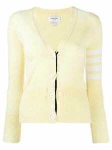 Thom Browne 4-Bar Classic V-Neck Cardigan - Yellow