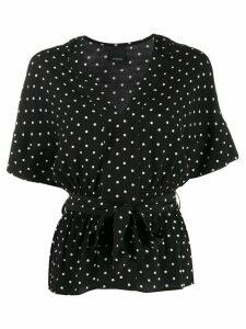 Pinko polka dot print wrap blouse - Black