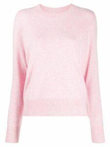 Tommy Hilfiger crew neck fine knit jumper - PINK
