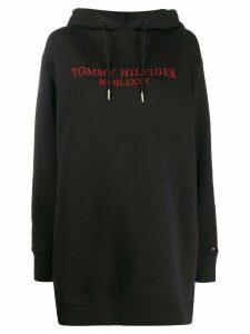 Tommy Hilfiger rhinestone logo hoodie - Black