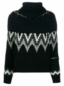 Sacai fairisle knit jumper - Blue