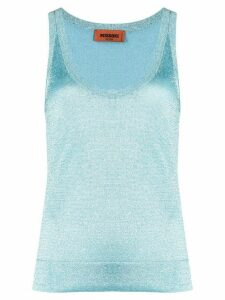 Missoni glitter weave vest top - Blue