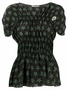 Preen Line Saki Wiccan star print top - Black