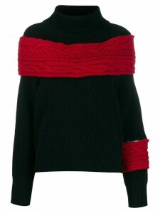 Sacai chunky knit jumper - Black