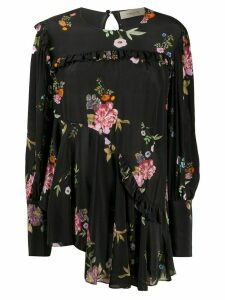 Preen Line Kapona haunted floral print blouse - Black