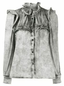 Isabel Marant Étoile ruffled denim shirt - Grey