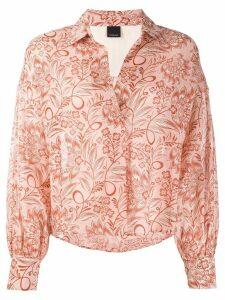 Pinko floral print boxy-fit blouse