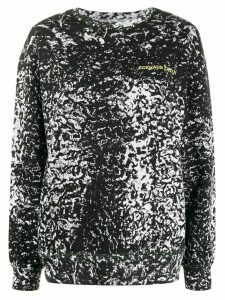 Eckhaus Latta long sleeve abstract print sweater - Black