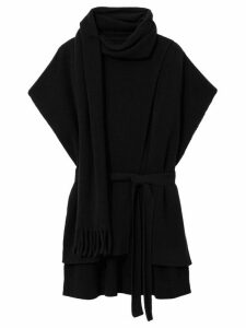 Proenza Schouler draped shortsleeved knitted top - Black