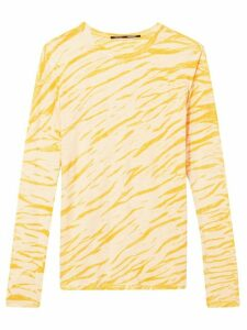 Proenza Schouler animal print long-sleeved T-shirt - Yellow
