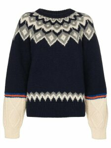 Rentrayage Isle of Skye knit jumper - Blue