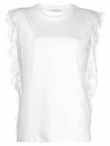 Fabiana Filippi lace detail T-shirt - White