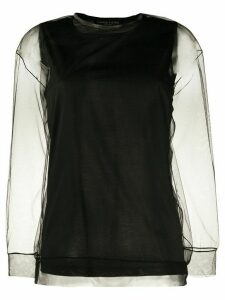 Fabiana Filippi sheer long sleeve T-shirt - Black