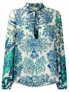 Twin-Set floral print tassel-embellished blouse - Green