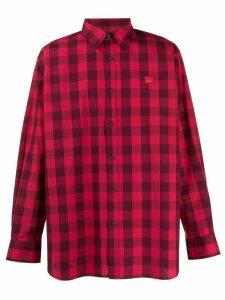 Acne Studios Vichy-check shirt - Red