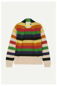 JW Anderson - Ruched Striped Linen Sweater - Blue