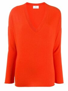 Allude V-neck jumper - ORANGE
