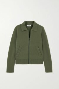 Prada - Wool-jacquard Polo Shirt - Green