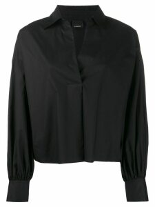 Pinko fringed boxy-fit blouse - Black