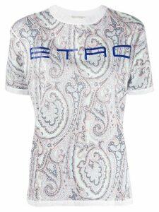 Etro paisley logo T-shirt - White