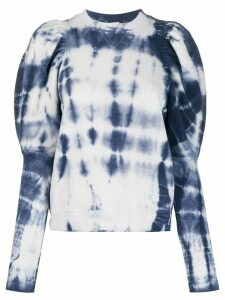 Ulla Johnson tie-dye long sleeve sweatshirt - Blue