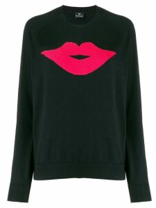 PS Paul Smith Lip knit long sleeve jumper - Black